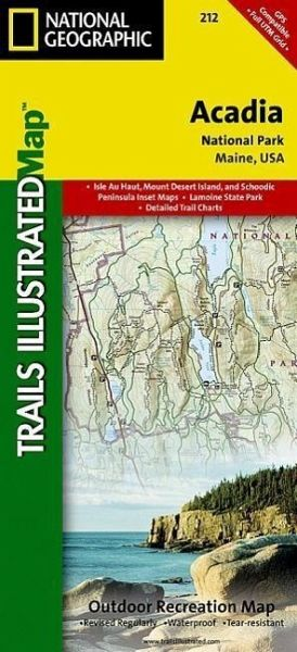 National Geographic Trails Illustrated Map Acadia National Park, Maine, USA