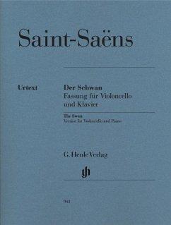 Der Schwan, Fassung für Violoncello und Klavier, Klavierpartitur u. Violoncellostimme