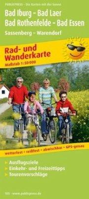 PublicPress Rad- und Wanderkarte Bad Iburg - Ba...