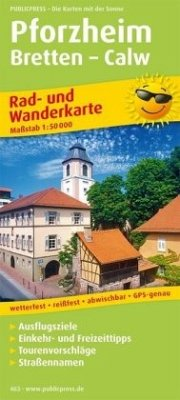 PublicPress Rad- und Wanderkarte Pforzheim - Br...