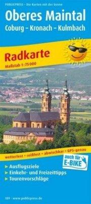 PublicPress Radwanderkarte Oberes Maintal, Cobu...