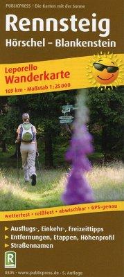 PublicPress Wanderkarte Rennsteig, Hörschel - Blankenstein, 34 Teilktn.