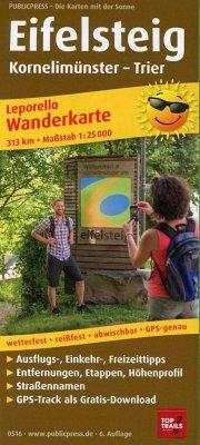 PUBLICPRESS Leporello Wanderkarte Eifelsteig, K...