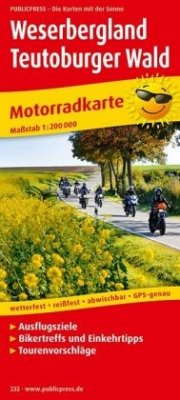 PublicPress Motorradkarte Weserbergland, Teutob...