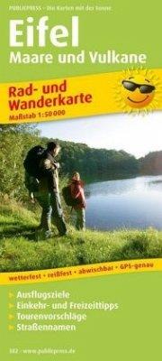 PublicPress Rad- und Wanderkarte Eifel, Maare u...