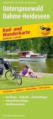 PublicPress Rad- und Wanderkarte Unterspreewald, Dahme-Heideseen