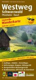 PublicPress Leporello Wanderkarte Westweg Schwarzwald, Pforzheim - Basel