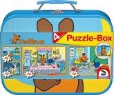 Schmidt 55597 - Die Maus: Puzzle-Box, 2 x 26/2 x 48 Teile