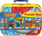 Schmidt 55594 - Benjamin Blümchen: Puzzle-Box, 2 x 26/2 x 48 Teile