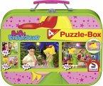 Schmidt 55595 - Bibi Blocksberg: Puzzle-Box, 2 x 60/2 x 100 Teile