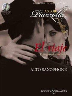El viaje, für Alt-Saxophon und Klavier, m. Audio-CD