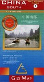 Gizi Map China South, Regional Geographical Map