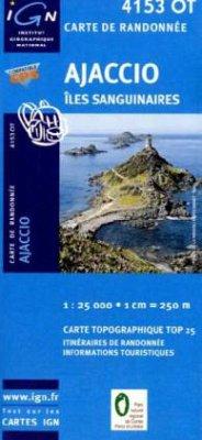 IGN Karte, Carte de randonnée (et plein air) Ajaccio