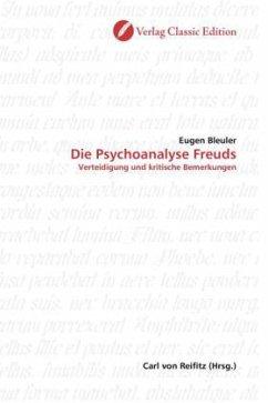 Die Psychoanalyse Freuds - Bleuler, Eugen