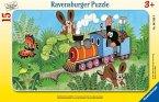Ravensburger 06349 - Maulwurf als Lokführer, Rahmenpuzzle 15 Teile