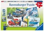 Ravensburger 09221 - Polizeieinsatz, 3 x 49 Teile Puzzle