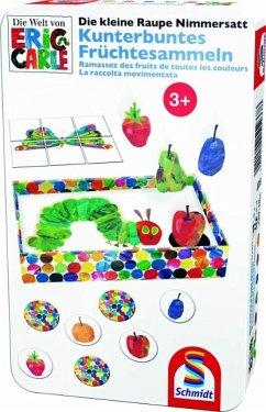Schmidt 51237 - Kleine Raupe Nimmersatt: Kunterbuntes Früchtesammeln, Reisespiel