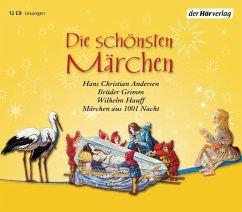Die schönsten Märchen, 12 Audio-CDs - Brüder Grimm; Andersen, Hans Christian; Hauff, Wilhelm