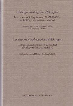 Heideggers Beiträge zur Philosophie