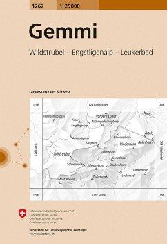 Landeskarte der Schweiz Gemmi