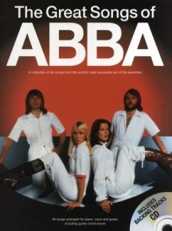 The Great Songs Of Abba, Songbook, m. Audio-CD