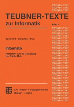 Informatik - Ganzinger, Harald; Paul, Wolfgang J.