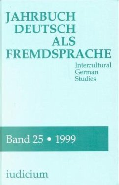 1999 / Jahrbuch Deutsch als Fremdsprache 25