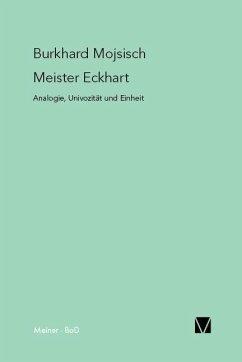 Meister Eckhart: Analogie, Univozität und Einheit