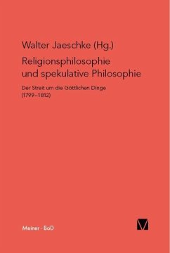Religionsphilosophie und spekulative Theologie