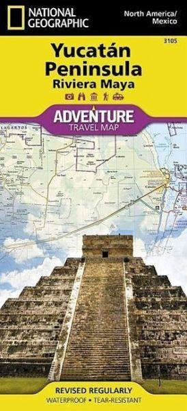 National Geographic Adventure Map Northern Yucatan Peninsula, Maya ...