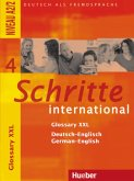 Schritte international 4. Glossary XXL Deutsch-Englisch German-English