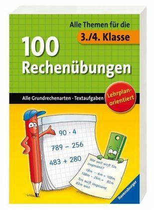 RV 100 Rechenübungen(3./4.Kl.) - 100 Seiten, ab 8 Jahren, 14,5 x 20,9