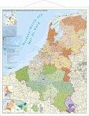 Benelux-Länder Postleitzahlen. Wandkarte