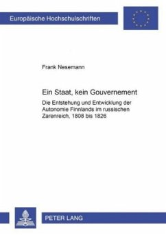 Ein Staat, kein Gouvernement - Nesemann, Frank
