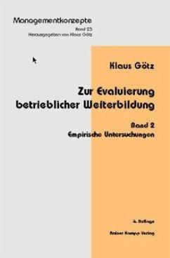 Empirische Untersuchungen / Zur Evaluierung beruflicher Weiterbildung 2