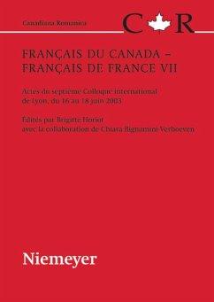 Français du Canada - Français de France VII