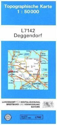 Topographische Karte Bayern.Topographische Karte Bayern Deggendorf