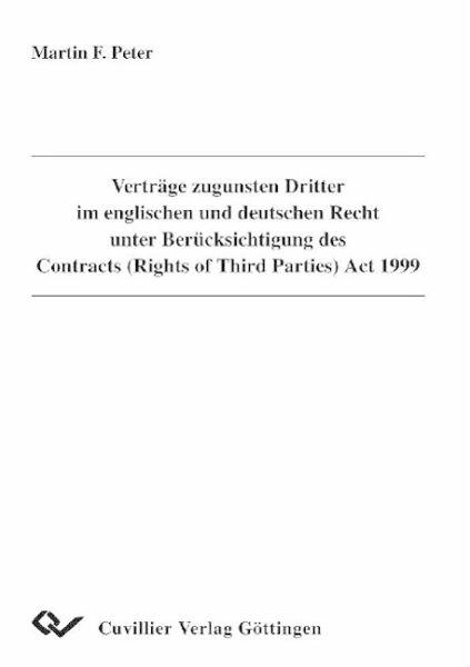 Verträge Zugunsten Dritter Im Englischen Und Deutschen Recht Unter