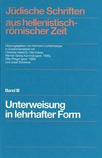 Jüdische Schriften aus hellenistisch-römischer Zeit, Band III - Buchdecke