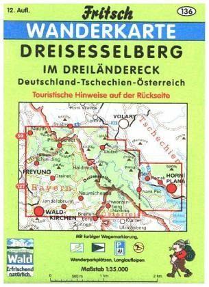 Dreiländereck Bayerischer Wald Karte.Fritsch Karte Dreisesselberg Im Dreiländereck Deutschland Tschechien österreich