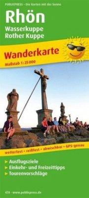 PublicPress Wanderkarte Rhön, Wasserkuppe - Rother Kuppe