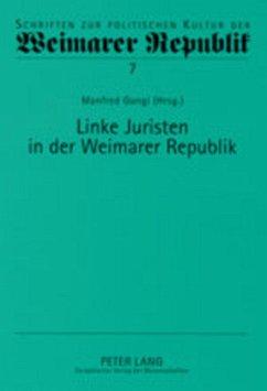 Linke Juristen in der Weimarer Republik