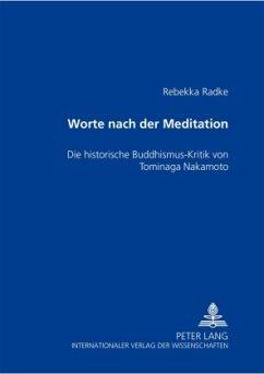 Worte nach der Meditation - Radke, Rebekka