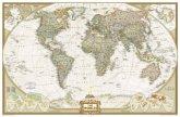 National Geographic Map World Executive, enlarged, laminated, Planokarte