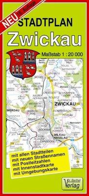 Doktor Barthel Stadtplan Zwickau und Werdau