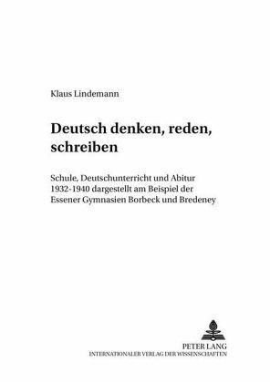 deutsch denken reden schreiben von klaus lindemann buch bcherde - Rede Schreiben Beispiel