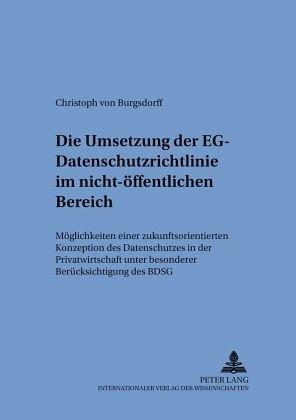 Eg-Datenschutzrichtlinie 95/46/Eg