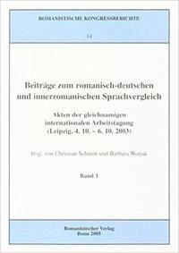 Beiträge zum romanisch-deutschen und innerromanischen Sprachvergleich