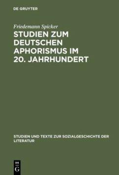 Studien zum deutschen Aphorismus im 20. Jahrhundert
