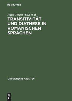 Transitivität und Diathese in romanischen Sprachen
